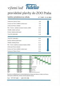 Výletní loď Fidelio - pravidelné plavby do ZOO Praha