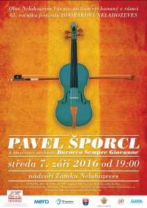 Koncert Pavla Šporcla @ Zámek Nelahozeves   Nelahozeves   Česká republika