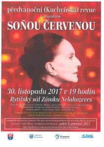 Předvánoční (Kuchyňská) revue s legendární Soňou Červenou @ Zámek Nelahozeves