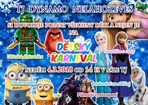 Dětský karneval v sále TJ Dynamo Nelahozeves