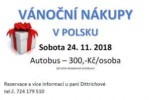 Vánoční nákupy v Polsku - zájezd