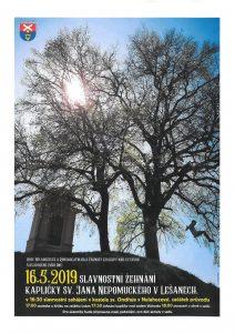 16. 5. 2019 – Slavnostní žehnání Kapličky sv. Jana Nepomuckého v Lešanech