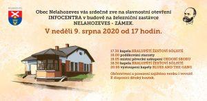 Slavnostní otevření INFOCENTRA v neděli 9. srpna 2020 od 17 hodin @ Nelahozeves
